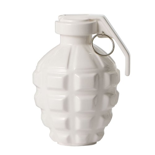 MollaSpace Love Grenade Coin Bank, White - 1