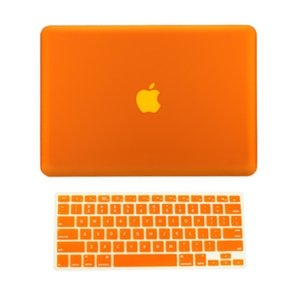 Best  TopCase 2 in 1 Retina 13-Inch ORANGE Rubberized Hard Case Cover for Apple MacBook Pro 13.3