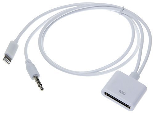® Dock Input 3,5mm Klinke AUX In Adapter Kabel sound cable Audio f iPhone iPod