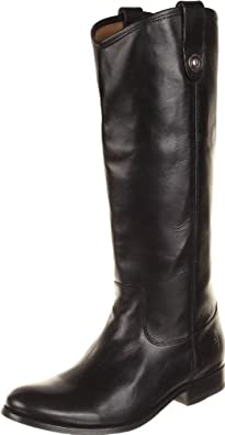 FRYE Women's Melissa Button  Boot,Black Wide Calf Smooth Vintage Leather,5.5 M US