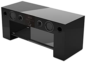 nesx ne780n meuble tv hifi amplifi bluetooth noir amazon. Black Bedroom Furniture Sets. Home Design Ideas
