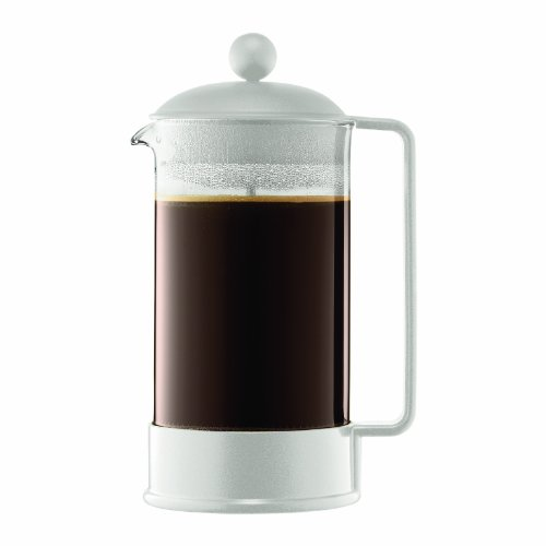 Brazil 8-Cup French Press Coffeemaker, 1-Liter, White