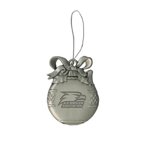 Georgia Southern Bulb Silver Pewter Ornament 'Georgia Southern w/ Eagle Head Engraved' at Amazon.com