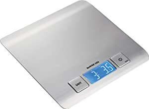 GoWISE USA Digital Kitchen Food Scale Ultra Refined Stainless Steel GW22003 by GoWISE USA