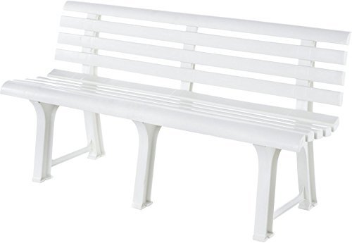 best-18151400-outdoor-benches-color-blanco-de-plastico-grid-145-cm-49-cm