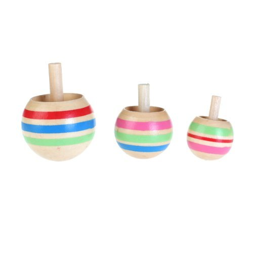 TOOGOOR-3pcs-Wooden-Colorful-Spinning-Top-Kids-Toy-3-Sizes-for-Children-Above-3-Years-Old