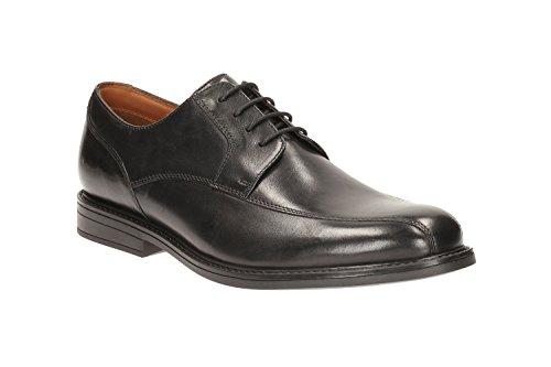 Clarks Habillé Homme Beckfield Over Cuir Chaussures De Noir
