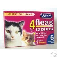 Johnsons Veterinary Products 4Fleas Tablets for Cats and Kittens
