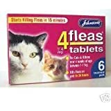 Johnsons Veterinary Products 4Fleas Tablets for Cats and Kittens, Pack of 6