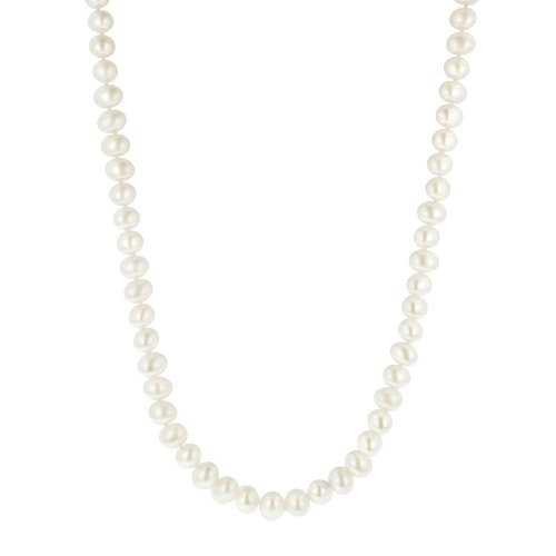 White Freshwater Cultured A Quality Pearl Necklace (7.5-8mm ), 30