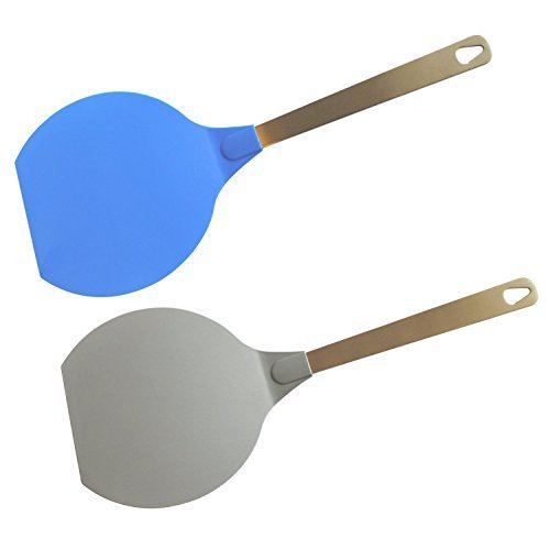 Pack of 2 Jumbo Flexible Plastic Turners with Stainless Steel Handles (Extra Thin Spatula compare prices)