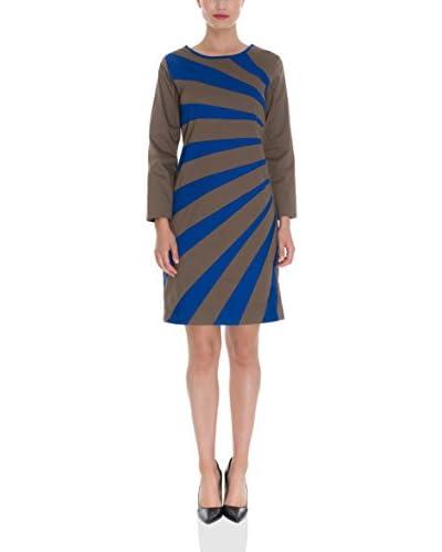 Almatrichi Vestido Simetric Azul / Gris