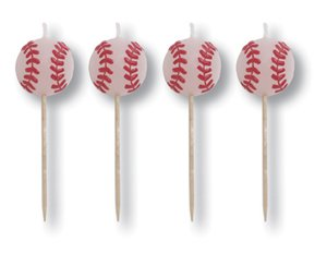 Baseball Pick Candles - Pack of 4 Candles - 1