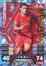 Match Attax 2013/2014 Philippe Coutinho Liverpool Star Player 13/14