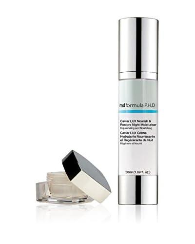 MD FORMULA Beauty-Tratamiento Facial 2 Piezas Caviar Lux Nourish&Restore Night Moisturizer, Pro Sculpt Serum