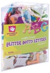 Fibre Craft Foam Stickers 2.25 Ounces/Pkg Glitter Dotty Alphabet 76406E; 3 Items/Order