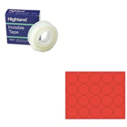 KITBVCFM1604MMM6200341296 - Value Kit - Bi-silque Interchangeable Magnetic Characters (BVCFM1604) and Highland Invisible Permanent Mending Tape (MMM6200341296)