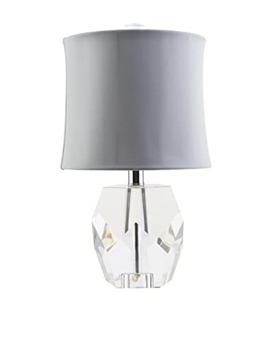 Surya Miramar 1-Light Table Lamp, Clear/Ivory