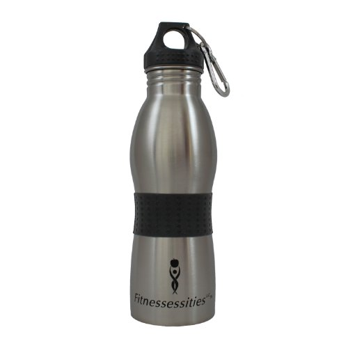 Stainless Steel Water Bottle, Wide Mouth, Ergonomic, BPA Free, 22 Oz, Eco-friendly, Center Grip, Best for Everyday Use in Gym, Office, Home, Exercise Class, Yoga. Recyclable, Tapered, Stylish, Brushed, for Small Hands, Kids. Protect Your Health 60 Day Guarantee