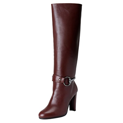 Stuart Weitzman Womens Leather High Heel Boots Shoes