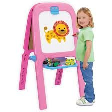 Crayola Magnetic Double Easel - Pink/Red