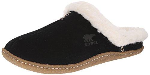 Sorel Nakiska Slide - Pantofole Donna, Nero (Black/Fossil 010Black/Fossil 010), 39 EU