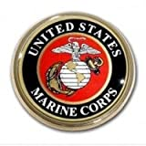 United States US Marine Corps USMC EGA Seal Gold Plated Premium Metal Car Truck Motorcycle Emblem