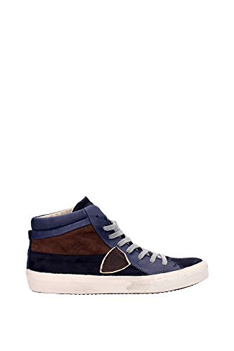 Sneakers Philippe Model Uomo Tessuto Blu e Marrone MDHUCD01 Blu 43EU