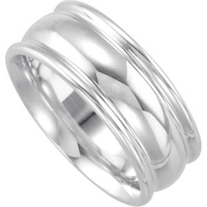 Genuine IceCarats Designer Jewelry Gift Sterling Silver Wedding Band Ring Ring. Size 09.00 8Mm Design Duo Band 8Mm Design Duo Band In Sterling Silver Size 9