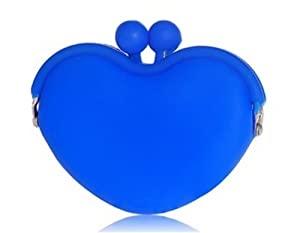 Tanboo Heart Shaped Silicone Coin Case (Blue)