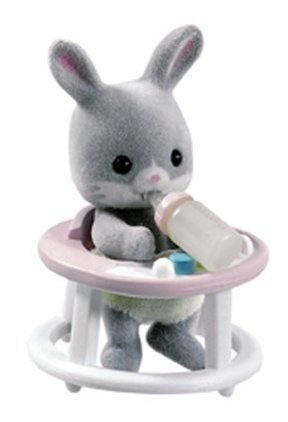 Calico Critters - Baby Carry Case - Gray Rabbit In The Walker front-10125