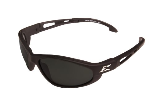 Edge Eyewear TSM21-G15-7 Dakura Polarized Safety Glasses, Black with G-15 Mirror Lens (Edge Safety Glasses Polarized compare prices)