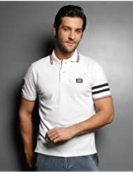 White Polo Shirt With Tipped Collar