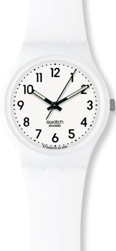 Swatch Unisex Just White Watch GW151