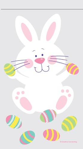 Bunny and Easter Eggs Zipper Cello Party Bags - 12/pack (5