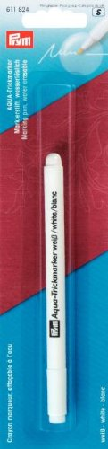 Crayon marqu. aqua soluble a l'eau blanc