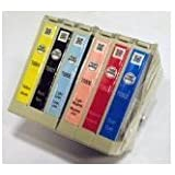 Bulk Packed Original Epson Claria T0807 - Set of 6 T0801 T0802 T0803 T0804 T0805 T0806 Black Cyan Magenta Yellow Light Magenta Light Cyan Ink Cartridges