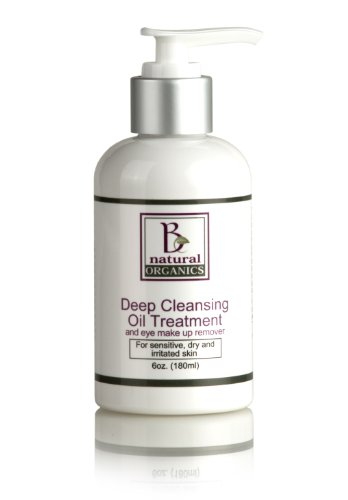 Be Natural Organics Deep Cleansing Oil Treatment And Eye Makeup Remover 6 Oz (180 Ml)