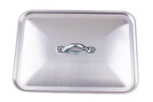 Pentole Agnelli Coperchio Rettangolare per Rostiera, in Alluminio BLTF, Argento, 35x26 cm