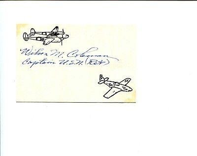 Wilson M. Coleman Navy Wwi War Fighter Ace Rare Signed Autograph (Wwi Aces compare prices)
