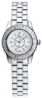 Christian Dior Women's CD113118M001 Christal White Diamond and Sapphire Watch