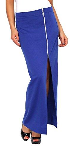 zeta-ville-falda-recta-delgada-raja-cremallera-delantera-para-mujer-197z-azul-real-eu-34-36-s