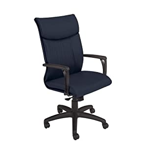 National Office Furniture Respect High Back Executive Office Chair, Navy Faux Leather