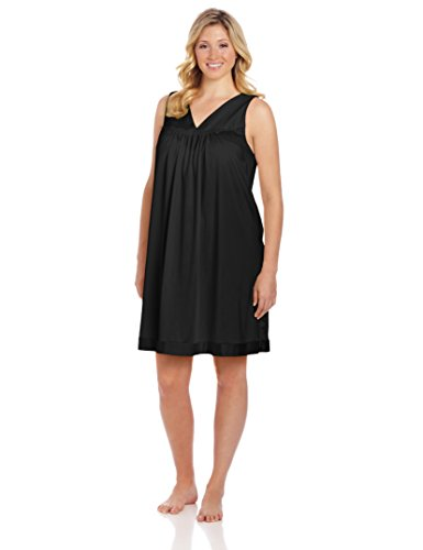 vanity-fair-womens-plus-size-coloratura-sleepwear-short-gown-30807-midnight-black-2x