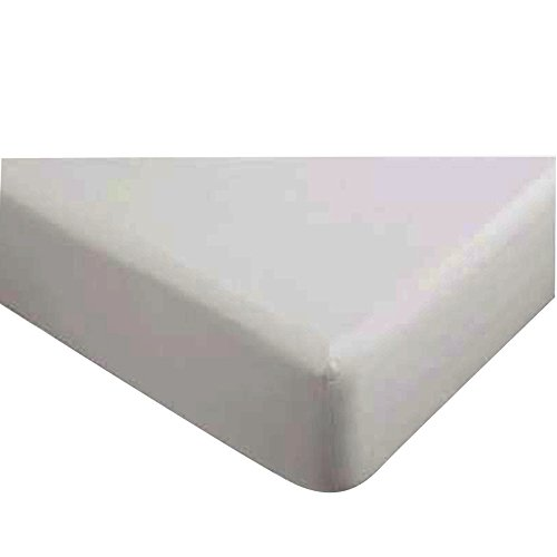 """Classic Collection-300Ct Combed Cotton Percale Weave Low Profile Up To 11"""" Fitted Sheet Twin White"""