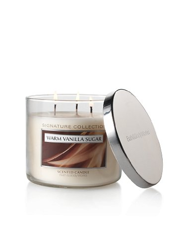 Bath and Body Works Signature Collection Warm Vanilla Sugar Scented Candle - 14.5oz Filled Candle