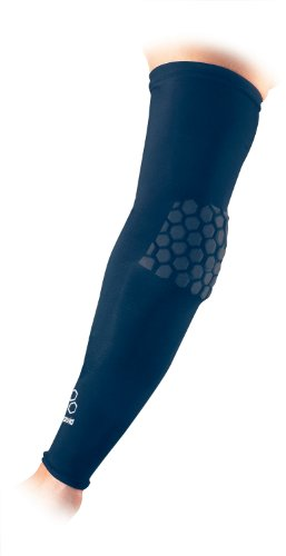Buy Low Price McDavid HexPad Power Shooter Arm Sleeve, One Each Fits either Arm (Navy Blue, Large) (6500R-N)