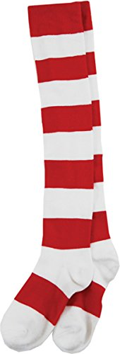 Morris Costumes WHERE'S WALDO WENDA KNEE SOCKS