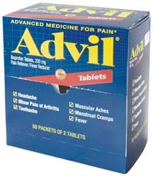 Medique 40933 Envelopes 50-2/Pk Advil Pain Relief Tablets