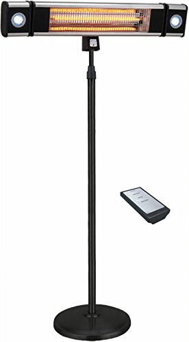 Ener-G+ Indoor/Outdoor Free Standing Electric Patio Heater with LED Light and Remote Control, Black (Outdoor Heater Tower compare prices)